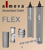 Almeva FLEX - flexible gas flue system