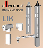 Almeva LIK internal concentric air-gas flue system